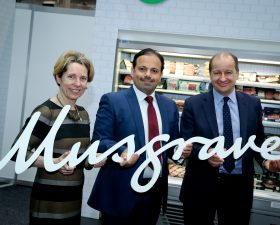 Pictured (from left) Tara McCarthy, CEO, Bord Bia; Jaffar Al Asfoor, BMMI General Manager of Food Retailing and Production; and Chris Martin, Musgrave CEO