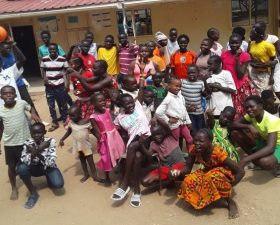 Some of the children supported by the CCC